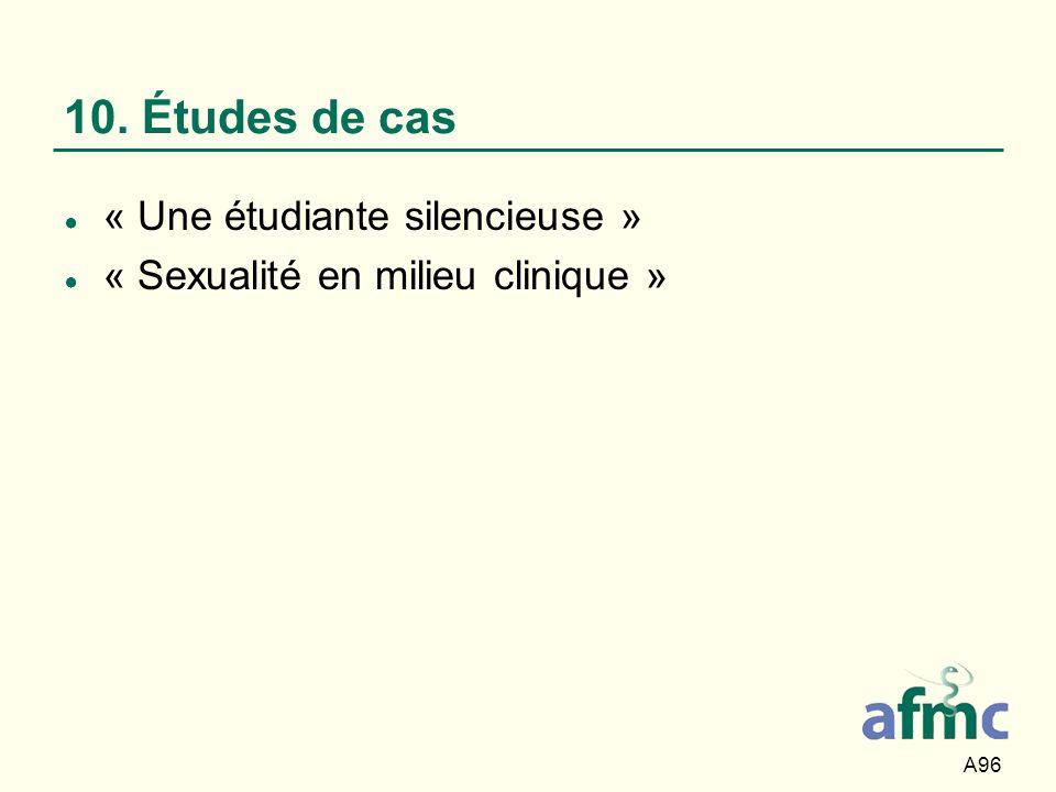 10. Études de cas « Une étudiante silencieuse »