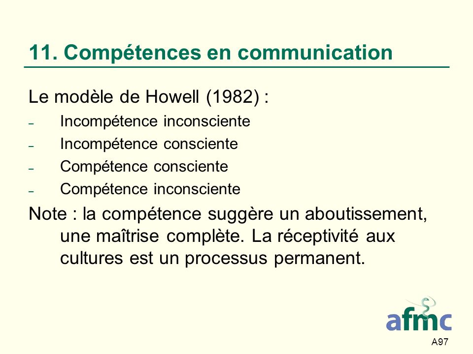 11. Compétences en communication