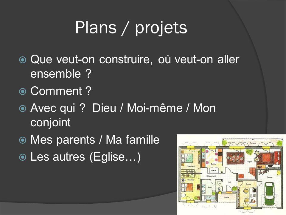 Plans / projets Que veut-on construire, où veut-on aller ensemble