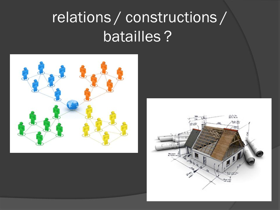 relations / constructions / batailles