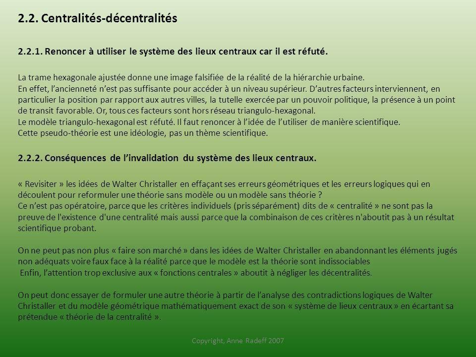 2. 2. Centralités-décentralités 2. 2. 1