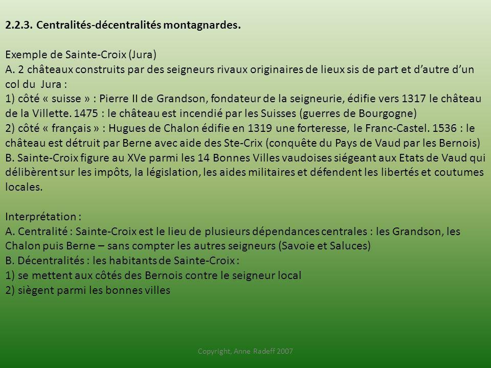 2. 2. 3. Centralités-décentralités montagnardes