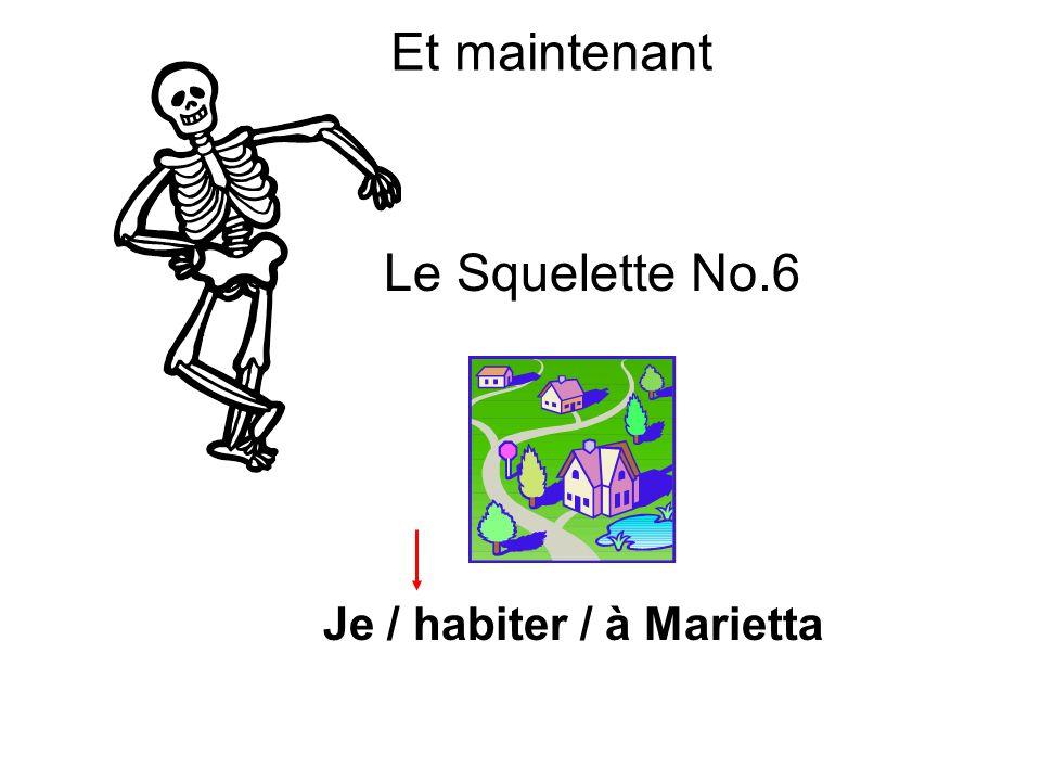 Et maintenant Le Squelette No.6 Je / habiter / à Marietta