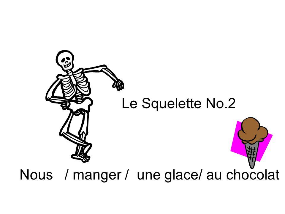 Le Squelette No.2 Nous / manger / une glace/ au chocolat
