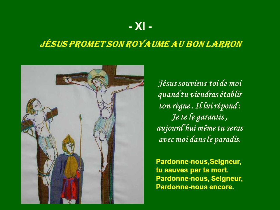Jésus promet son royaume au bon larron