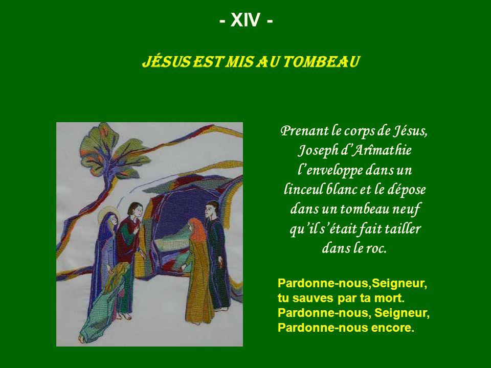 Jésus est mis au tombeau