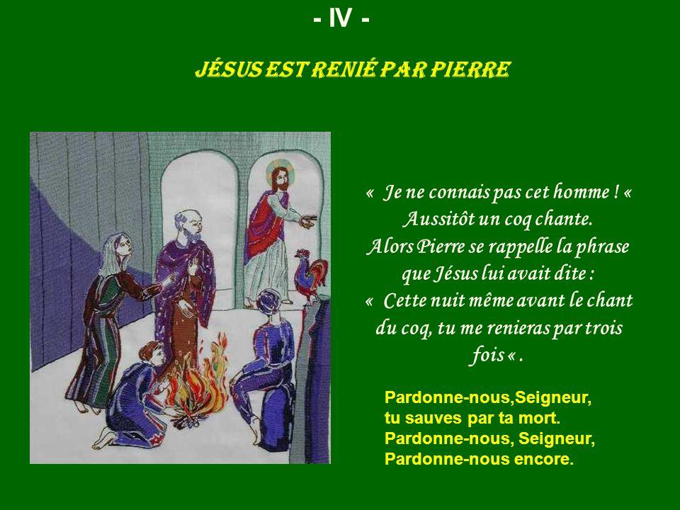 Jésus est renié par Pierre