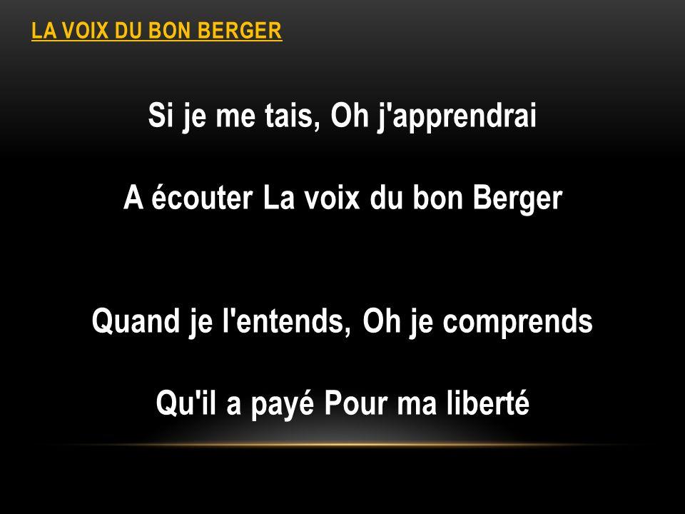 LA VOIX DU BON BERGER