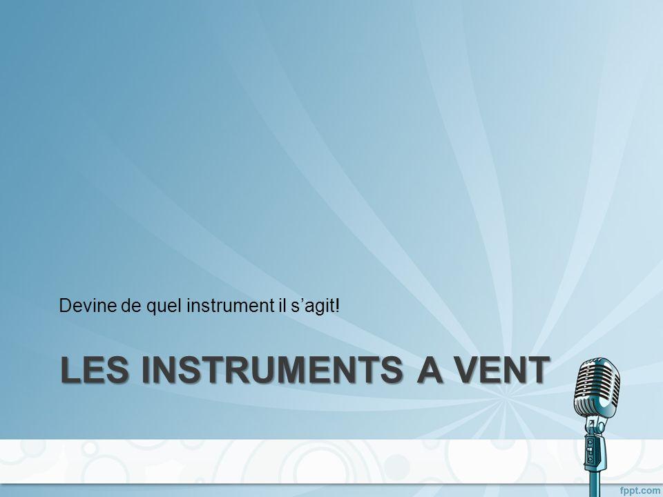 Devine de quel instrument il s'agit!