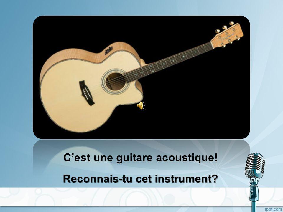 C'est une guitare acoustique!