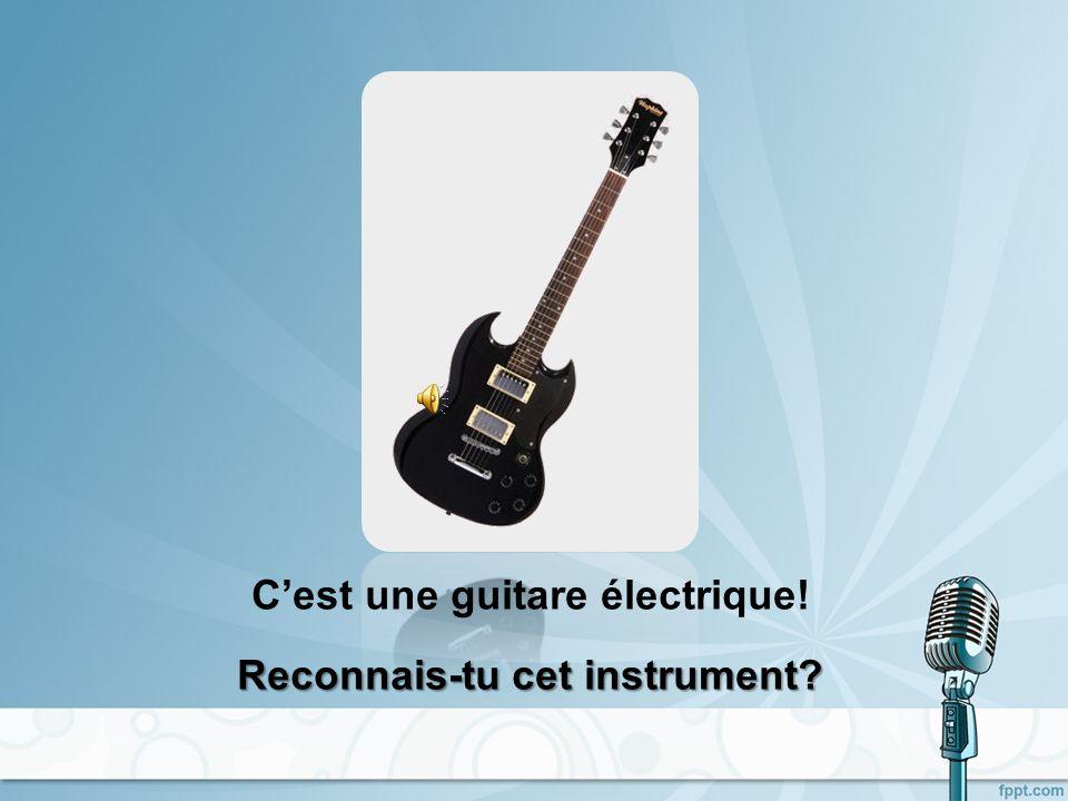 C'est une guitare électrique!
