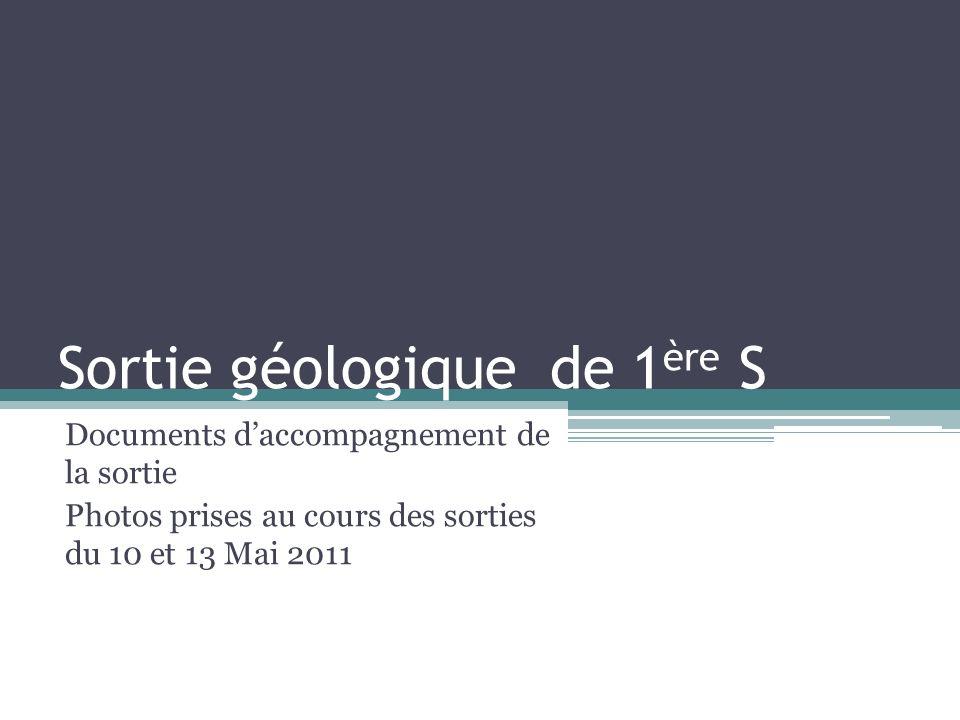 Sortie géologique de 1ère S