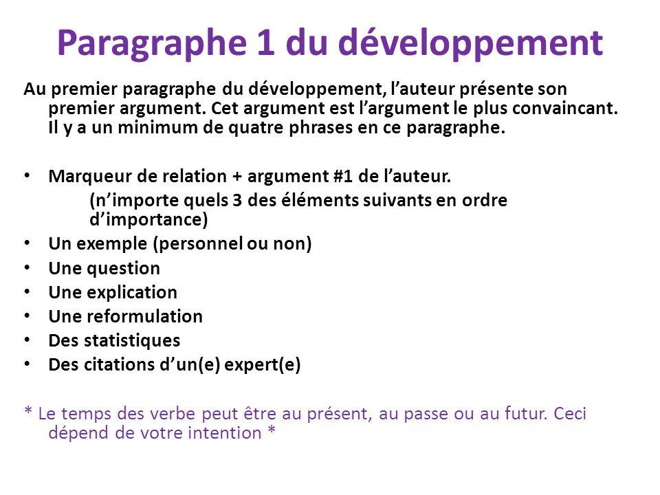 Paragraphe 1 du développement