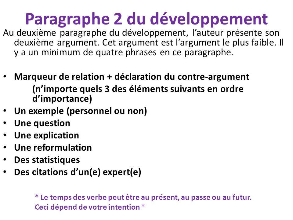 Paragraphe 2 du développement