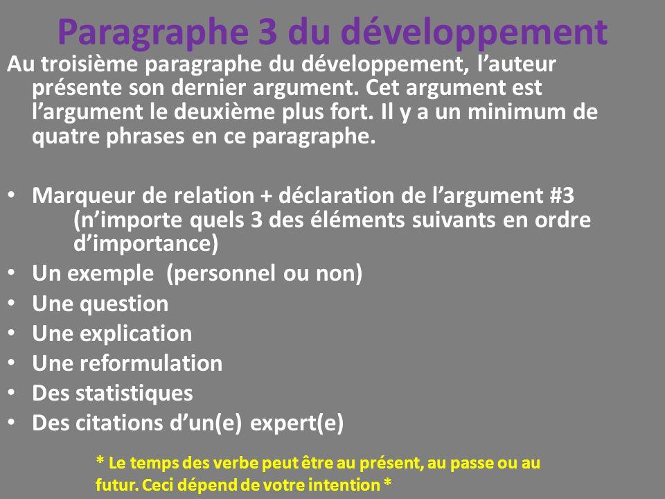 Paragraphe 3 du développement