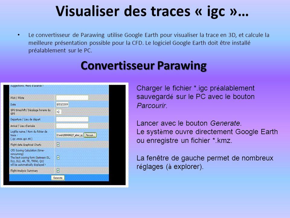 Visualiser des traces « igc »…