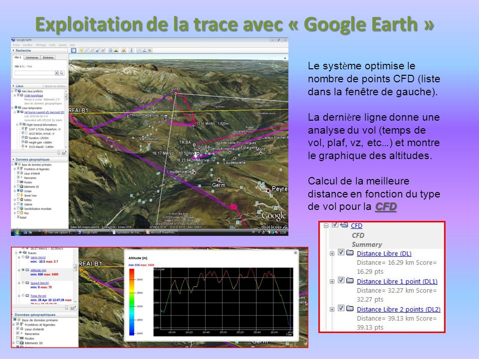 Exploitation de la trace avec « Google Earth »