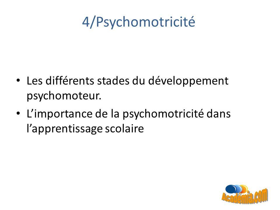 4/Psychomotricité Académia.com