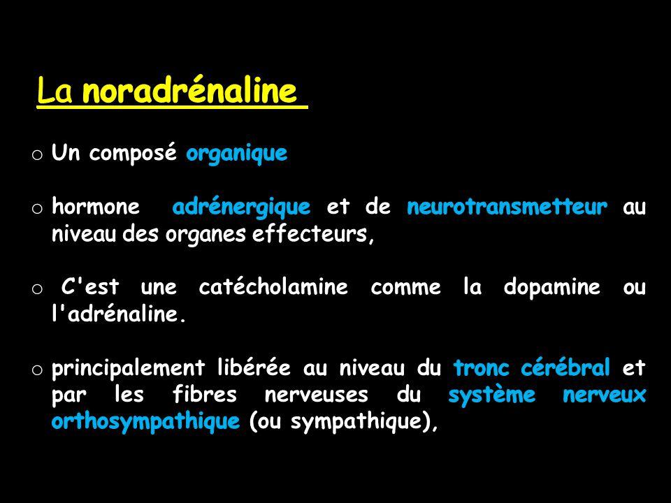 La noradrénaline Un composé organique