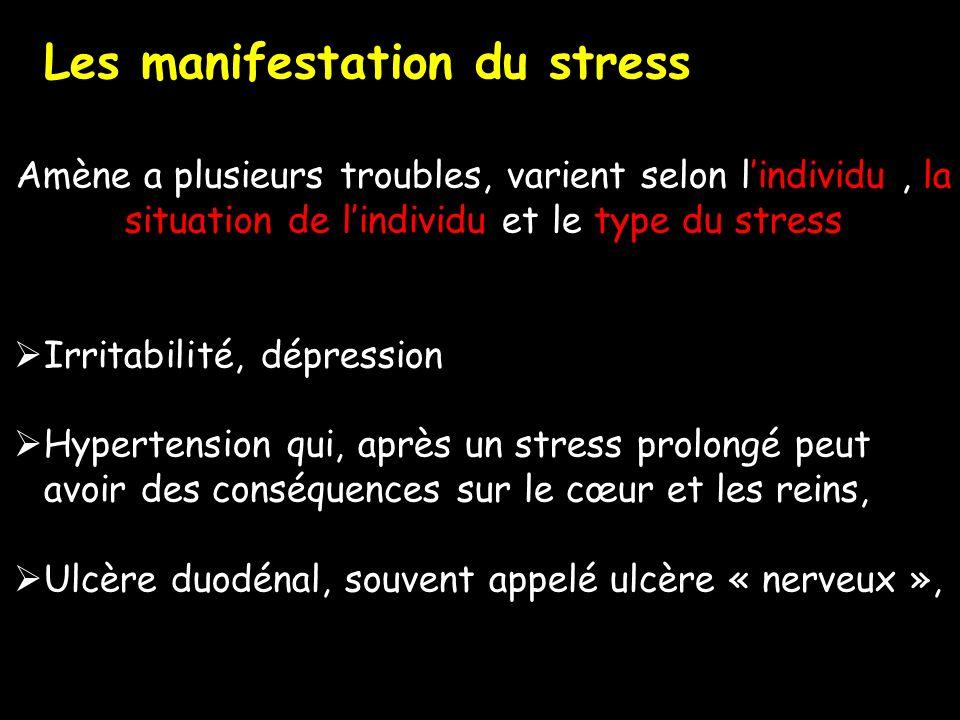 Les manifestation du stress