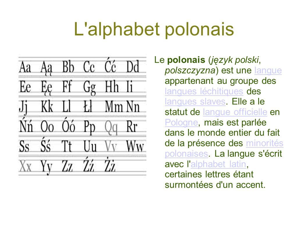 L alphabet polonais a.