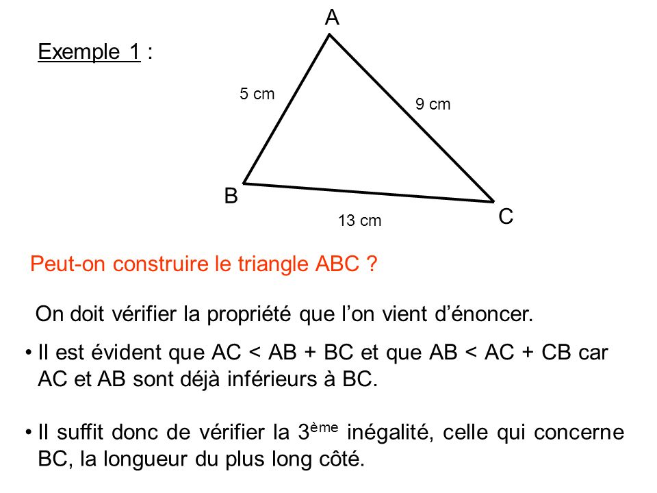 Peut-on construire le triangle ABC