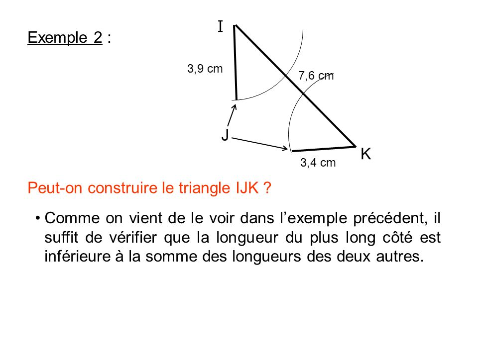 Peut-on construire le triangle IJK