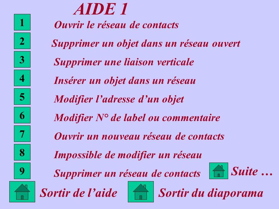 AIDE 1 Suite … Sortir de l'aide Sortir du diaporama 1