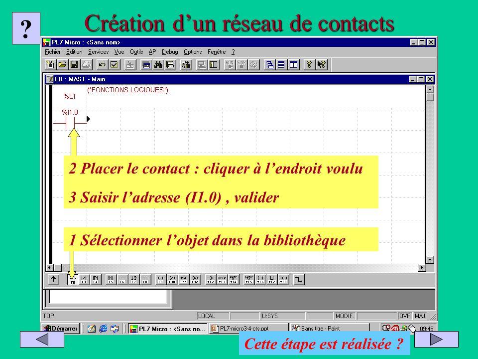 Création d'un réseau de contacts
