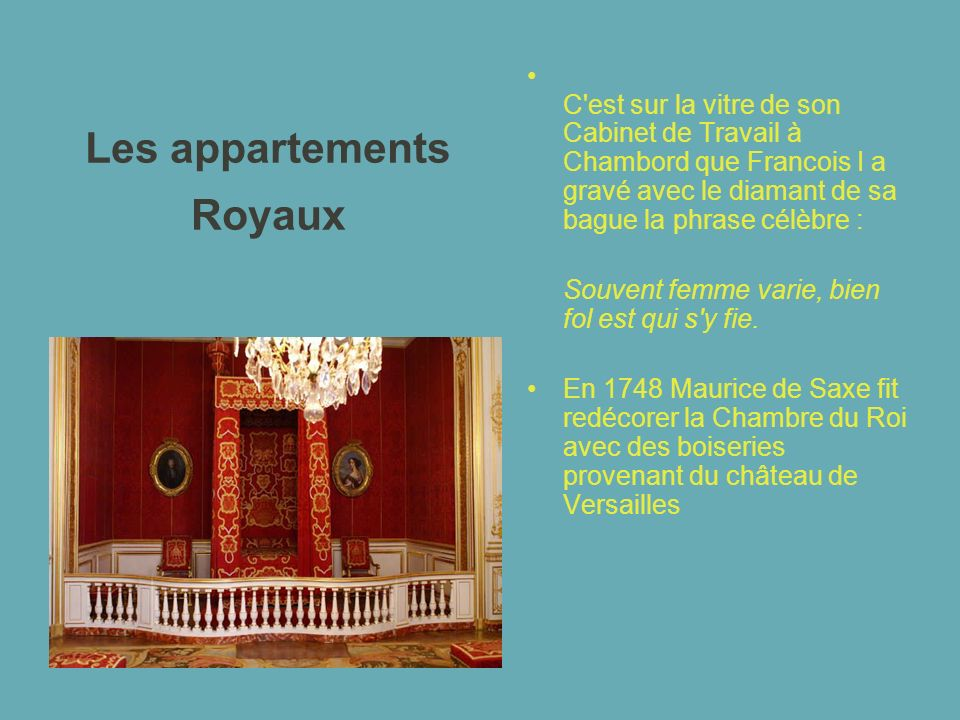 Les appartements Royaux