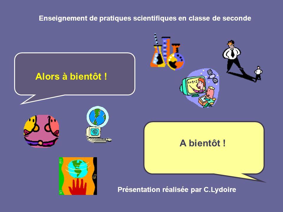 Enseignement de pratiques scientifiques en classe de seconde