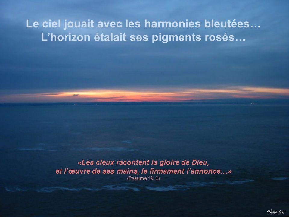 Le ciel jouait avec les harmonies bleutées… L'horizon étalait ses pigments rosés…
