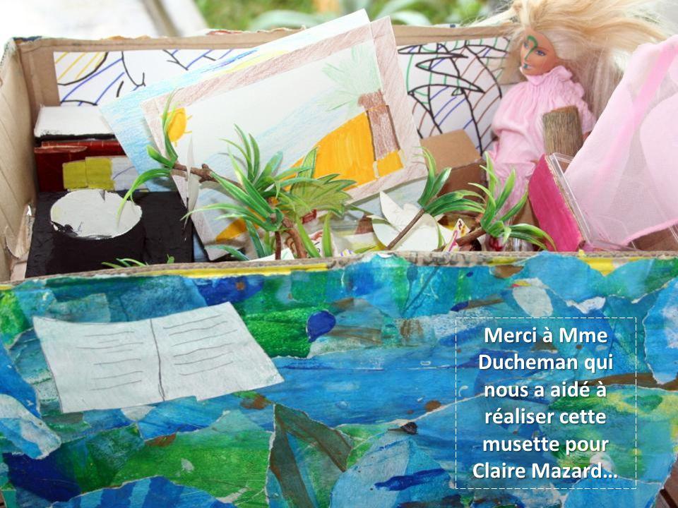 Merci à Mme Ducheman qui nous a aidé à réaliser cette musette pour Claire Mazard…