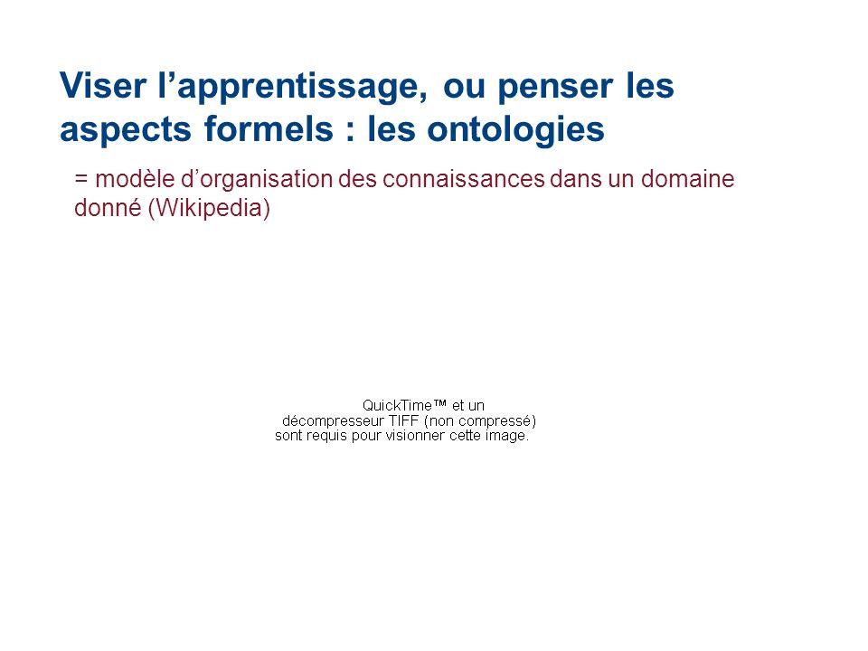 Viser l'apprentissage, ou penser les aspects formels : les ontologies