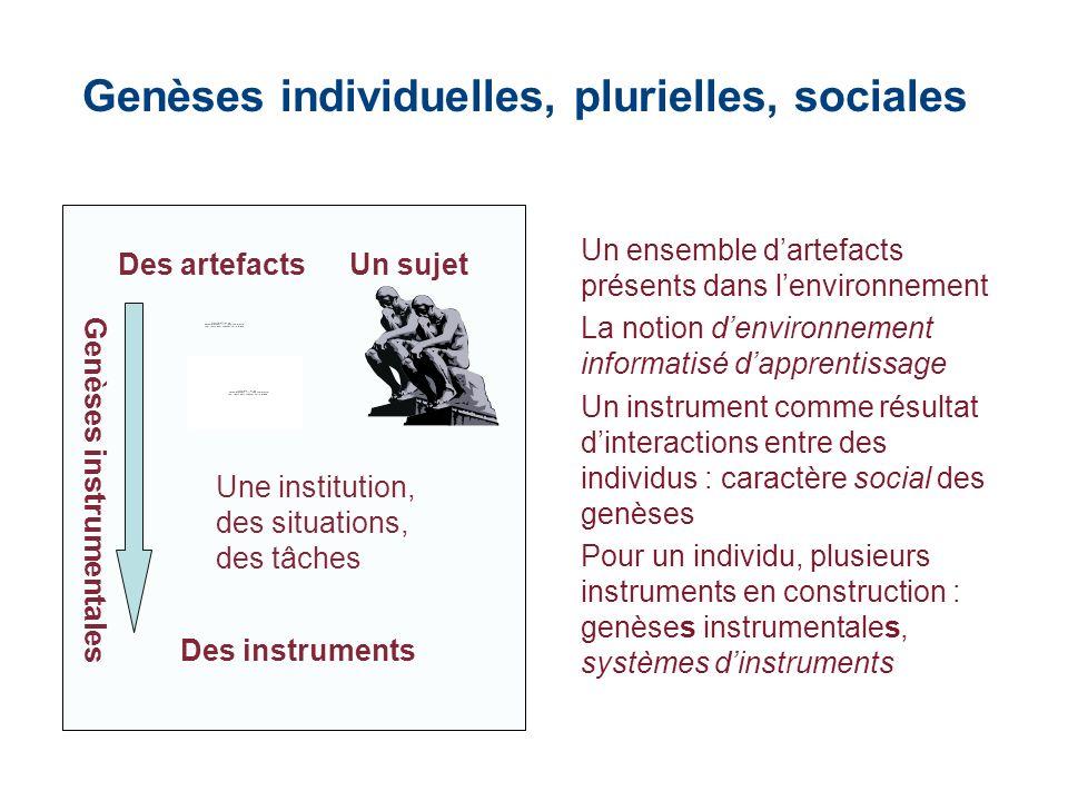 Genèses individuelles, plurielles, sociales