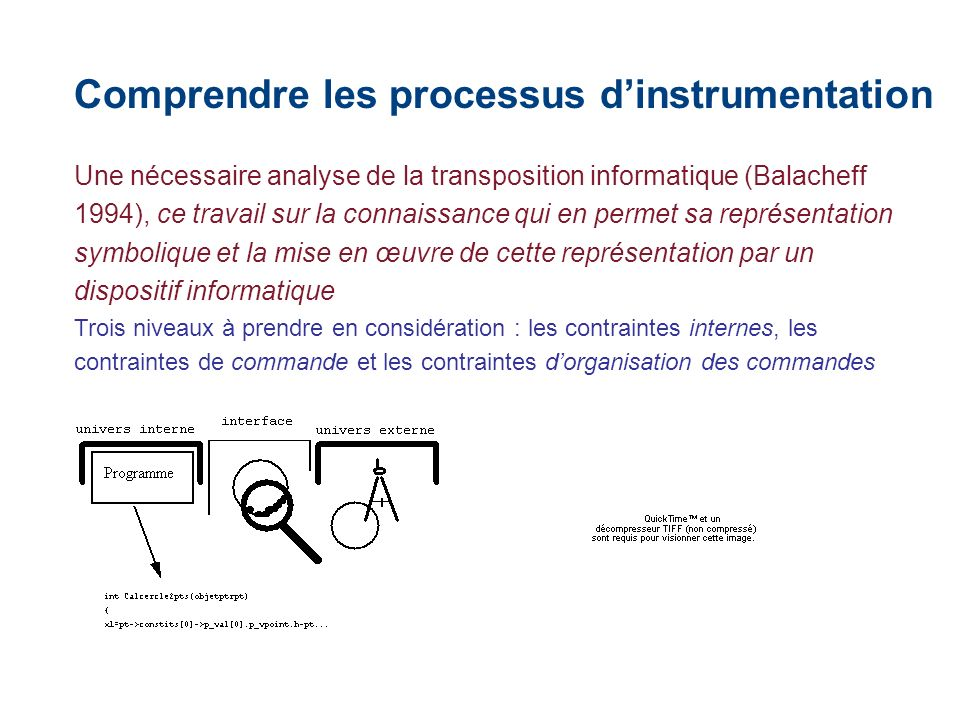 Comprendre les processus d'instrumentation
