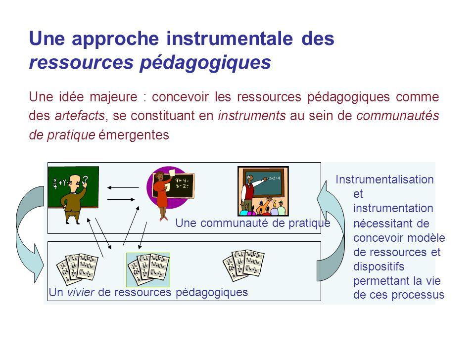 Une approche instrumentale des ressources pédagogiques