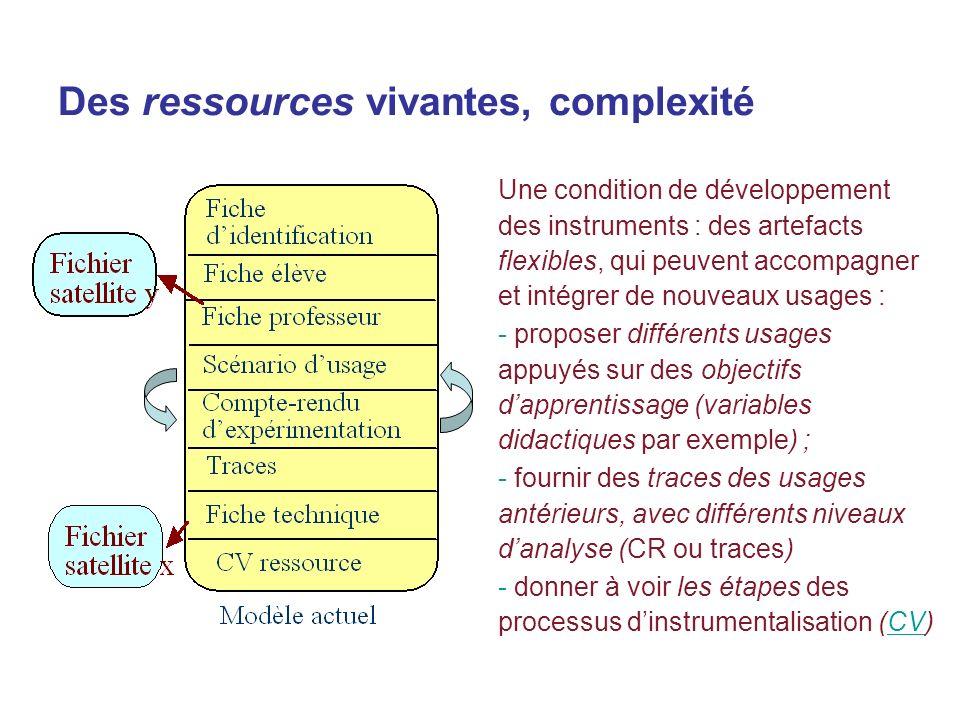 Des ressources vivantes, complexité