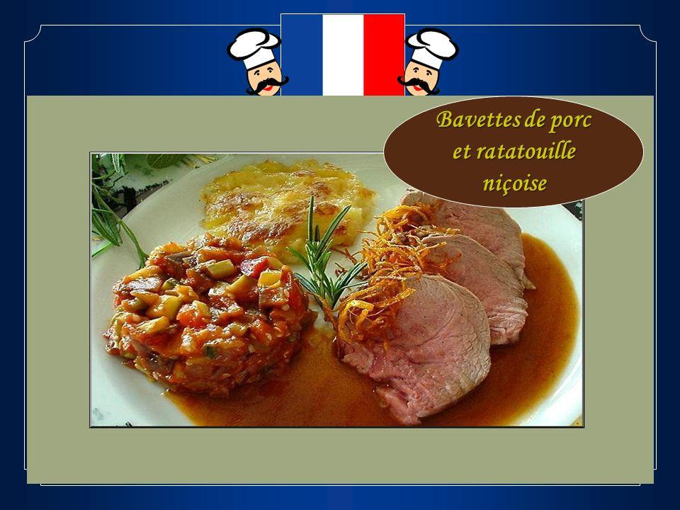 Bavettes de porc et ratatouille niçoise