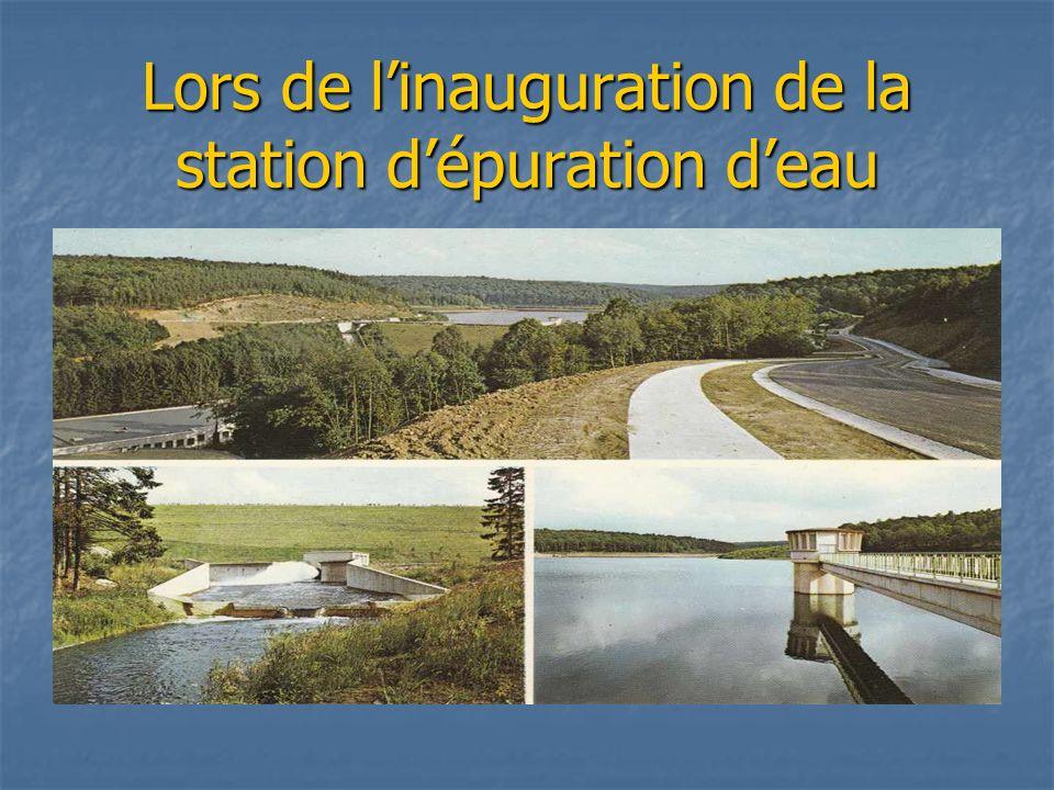 Lors de l'inauguration de la station d'épuration d'eau