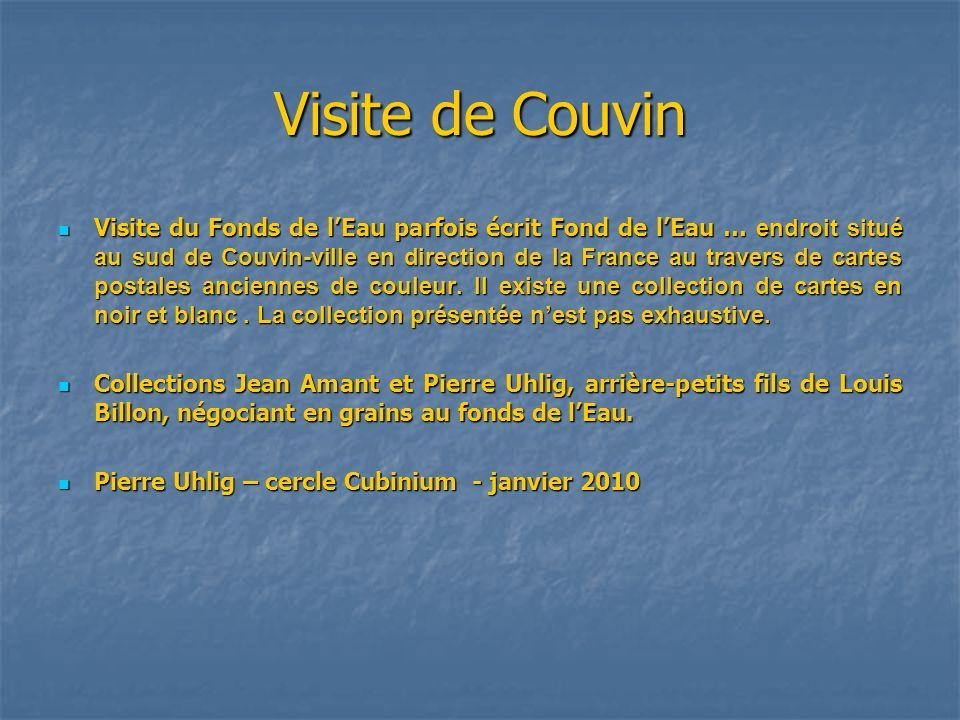 Visite de Couvin