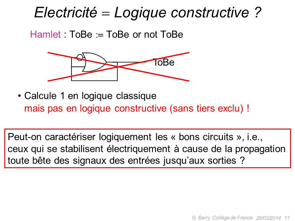 Electricité  Logique constructive