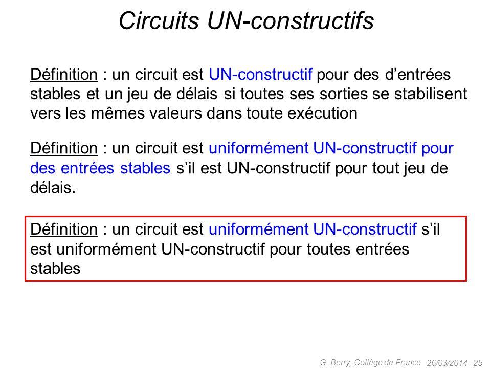 Circuits UN-constructifs