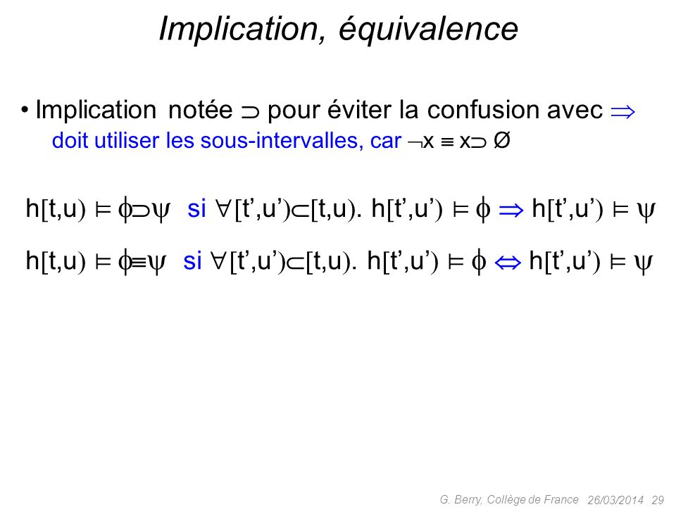 Implication, équivalence