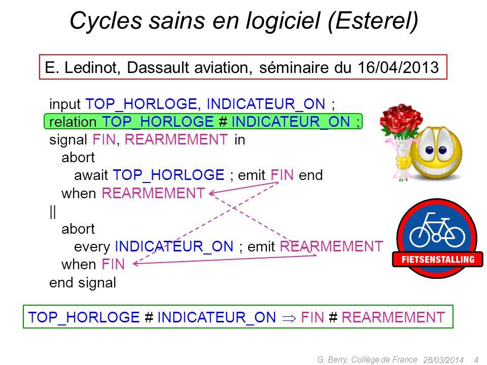 Cycles sains en logiciel (Esterel)