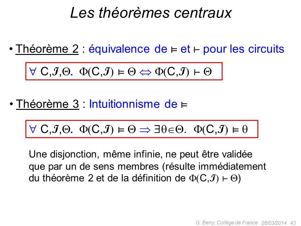 Les théorèmes centraux