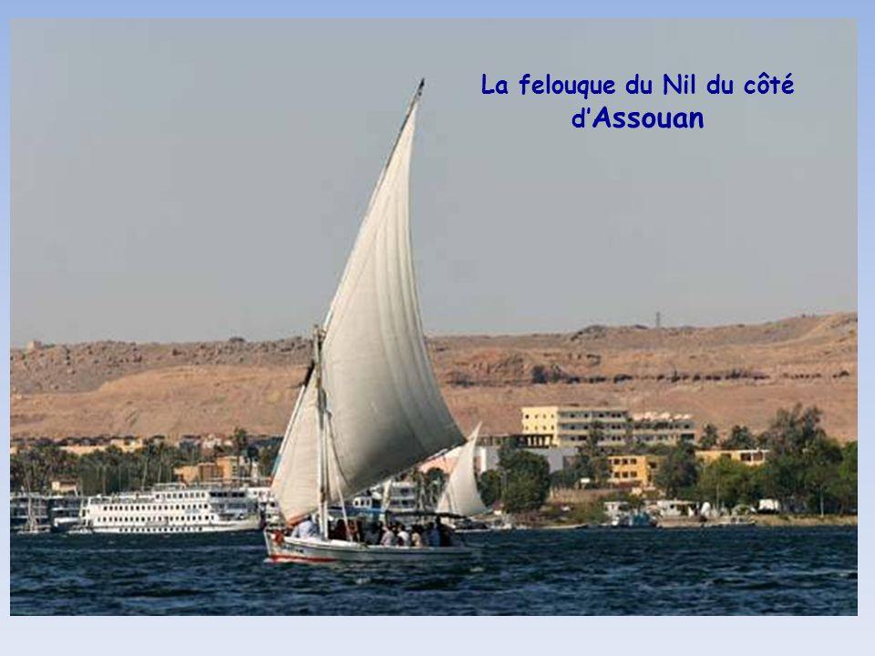 La felouque du Nil du côté d'Assouan