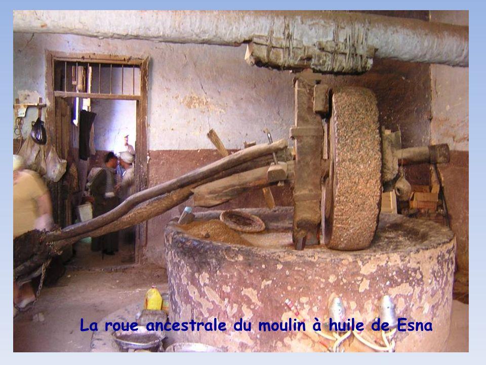 La roue ancestrale du moulin à huile de Esna