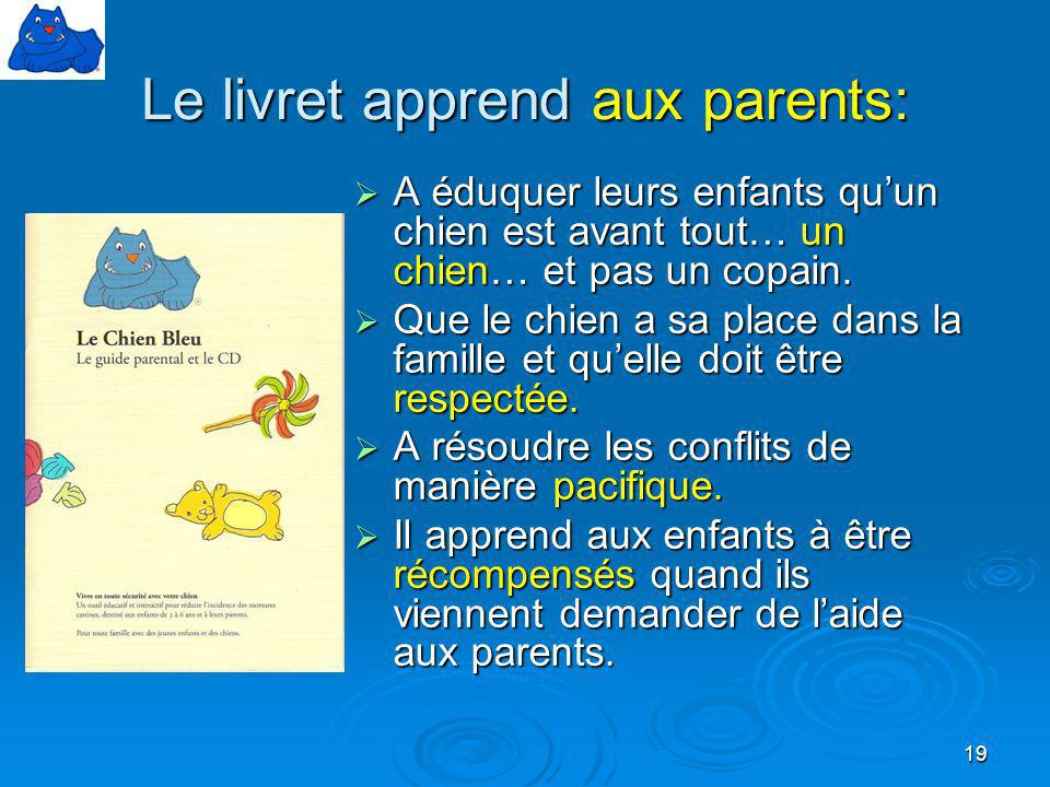 Le livret apprend aux parents: