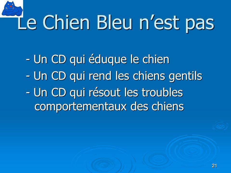 Le Chien Bleu n'est pas - Un CD qui éduque le chien